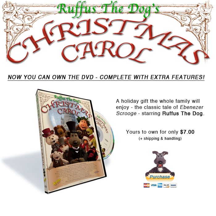 Buy the Ruffus Christmas Carol on DVD!